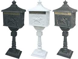 heavy duty mailbox. Amco Mailbox Pedestal Mail Box Heavy Duty Postal Security Cast Aluminum Locking Corporation Mailboxes