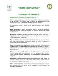 Machote De Curriculum Vitae Guatemala Elegante O Presentar