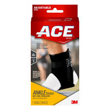 Ace Brand Ankle Brace With Side Stabilizers Adjustable Black 1 Pack Walmart Com