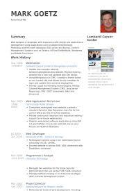 Webmaster Resume samples