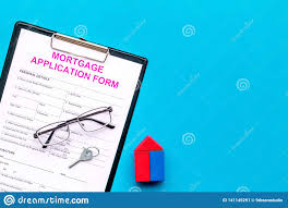 Mock Application Form Mortgage Concept Mortgage Application Form Near Key And