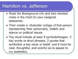 Jefferson Vs Hamilton Venn Diagram Thomas Jefferson Vs Alexander Hamilton Chart