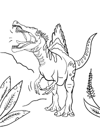 Small Picture Free Spinosaurus Coloring Page