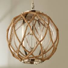 Nautical Globe Pendant Light Jute Rope Globe Pendant 8 Magnolia Rope Pendant Light