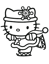 Cat Halloween Coloring Pages For Free Hello Kitty Coloring Pages