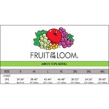 70 Symbolic Fruit Of The Loom Sizing Chart T Shirt