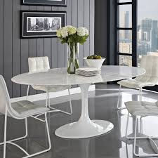 Furniture Accessories:Red White Modern Tulip Chair Design Best Dining Room  Design With Large Oval
