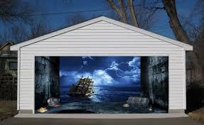 amazon 3d effect garage door billboard sticker cover decor old ship in storm 7x8 feet home kitchen