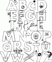 This alphabet coloring page would be a great tool to get your kid to strengthen his association this chart can also help you teach phonetics to your child, with the help of the simple images used for. Funny Alphabet Coloring Pages Coloring Home