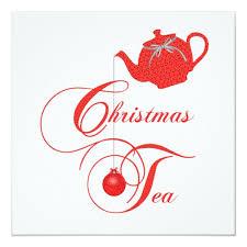 Christmas Tea Party Invitations Elegant Teapot Christmas Tea Party Invitation