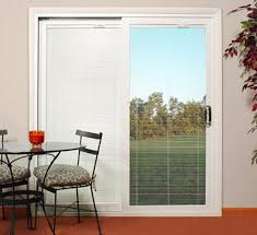 sliding glass doors with built in blinds designer series patio pella