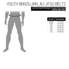Size Chart Youth Bjj Belts Century Martial Arts