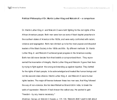 political philosophy of dr martin luther king and malcolm x a  document image preview