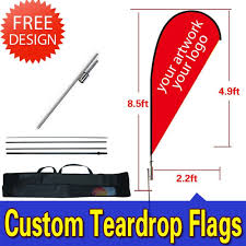 Design Your Own Spikes Amazon Com 8 5ft Double Sided Tear Drop Flags Kit Inground