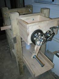 picture of making a crank to run the rollers