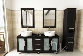 modern bathroom cabinet doors. Amazing Modern Black Vanity Unit For Bathroom Double Large Round Shaped White Ceramic Vessel Sinks Sink Mounted Chrome Faucets Wooden Cabinet Doors