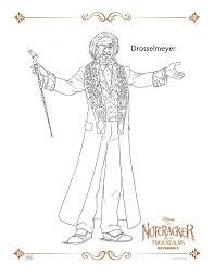 drosselmeyer the nuter and the four realms coloring pages and activity sheets
