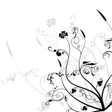 flower black and white design images