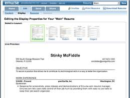 Resume Maker New Emurse Online Resume Maker