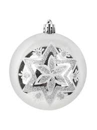 """<b>Шар новогодний</b> """"Серебряная снежинка"""",8см <b>Monte Christmas</b> ..."""