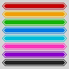 Tag Shape Template 8 Color Octagonal Button Banner Shape Colorful Button Banner