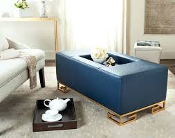 navy blue coffee table with tufted ottoman home design vs tray