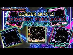 Bahan Edit Video
