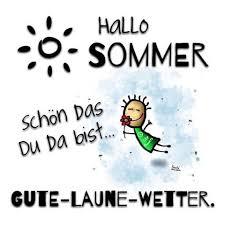Hallo Sommer Schön Das Du Da Bist Gute Laune Wetter Wir