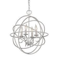 kichler vivian 19 02 in 4 light brushed nickel globe chandelier