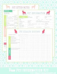 Pet Information Template Food Diary Template For Allergies Flaky Me