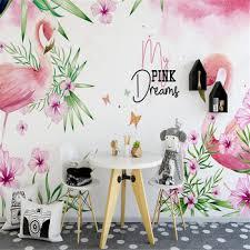 milofi custom wallpaper mural 3D Nordic hand-painted flamingo ...