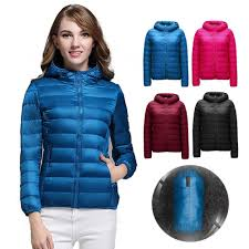 Light Down Jacket Womens Us 16 09 10 Off Colorful Winter Jacket Women Ultra Light Down Jacket Women Hooded Coat Duck Down Jacket Packable Thin Feather Short In Down Coats