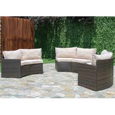 Outdoor sectional Blue Griswold Curved Sectional With Cushions Ashley Furniture Homestore Modern Outdoor Sectionals Allmodern