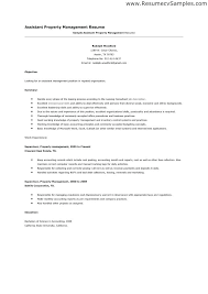 Property Management Resume Superb Apartment Assistant Manager Cover