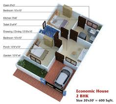 600 sq ft house plans 2 bedroom indian