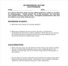 autobiography outline word pdf documents  autobiography outline questionnaire doc