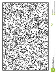 black and white background for coloring book stock vector ilration of doodle