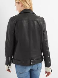oversize leather biker jacket