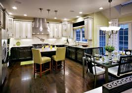 the lime green accents give this kitchen just the right amount of pop
