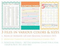 Book Of Mormon Reading Charts By Date Instant Download