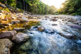river with rocks HD wallpaper