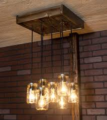 mason jar chandelier diy project with our barn wood update reclaimed design ideas of diy mason