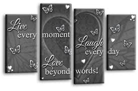 love live laugh quote canvas wall art