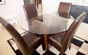 john erdos round glass top dining table