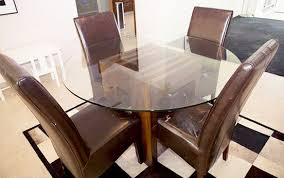 john erdos round glass top dining table