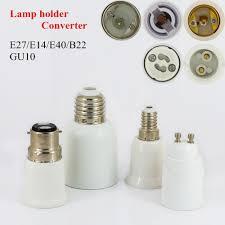 Us 02 Gu10 E14 E40 B22 E27 Lamp Holder Socket Adapter E27 To E14 Base Led Light Lamp Bulb Gu10 To E27 Adapter Converter Screw Socket In Lamp Bases