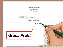 Sample Traditional Income Statement Fascinating How To Write An Income Statement With Pictures WikiHow