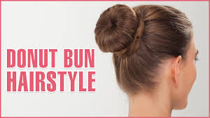 How Todo Hair Style how to do donut bun hairstyle using hair donut youtube 8325 by wearticles.com