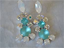 tiffany blue swarovski crystal chandelier earrings images of