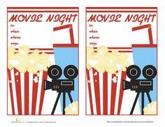 Movie Night Invitation Template Free Free Movie Night Party Printables By Printabelle Diy Crafts